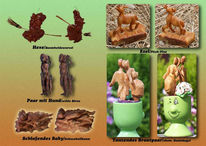 Kunsthandwerk, Schnitzkunst, Skulptur, Holz