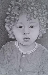Gesicht, Locken, Mädchen, Kleinkind