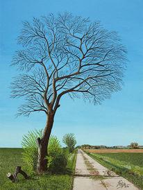 Acrylmalerei, Baum, Sickte, Niedersachsen