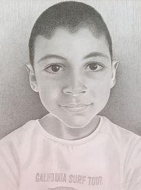 Portrait, Bleistiftzeichnung, Zeichnungen