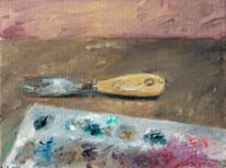 Ölmalerei, Farben, Malerei, Spachtel