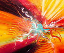 Abstrakt, Sonne, Acrylmalerei, Bunt