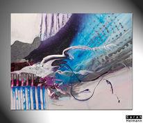 Blau, Bunt, Weiß, Acrylmalerei