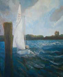 Malerei, Wind, Segel