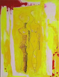 Frau, Kunstpreis, Malerei, Mann