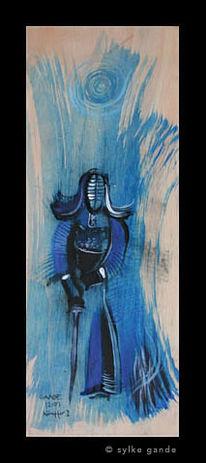 Kendo, Holz, Blau, Iaido