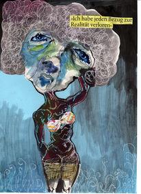 Aquarellmalerei, Collage, Blau, Realität