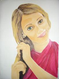 Menschen, Marker, Portrait, Frau
