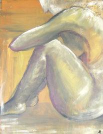 Akt, Mensch acryl akt, Acrylmalerei, Menschen