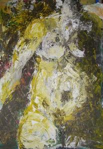 Acrylmalerei, Körper, Malerei, Akt