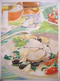 Marker, Essen, Design, Mahlzeit