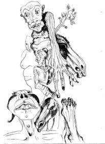 Illustration, Surreal, Chaos, Zeichnungen