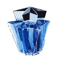 Design, Parfüm, Marker, Blau