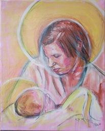 Malerei, Menschen, Madonna, Kind