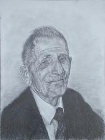 Alt, Portrait, Mann, Zeichnungen