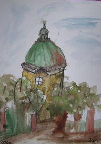 Herbst, Aquarellmalerei, München, Hofgarten
