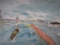 Paris, Aquarellmalerei, Rom, Fluss