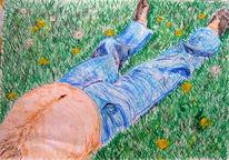 Zeichnungen, Sonne, Lassen, Bauch