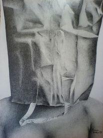 Grafit, Tüte, Zeichnung, Frau