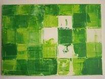 Spachtel, Malerei, Weiß, Abstrakt