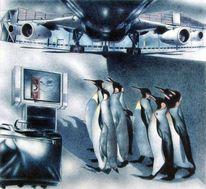 Zeichnung, Tiere, Technik, Flughafen