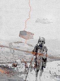 Krieg, Menschen, Figural, Digital