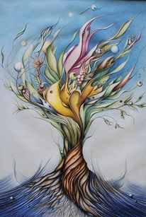 Malerei, Zyklus, Frühling