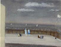 Malerei, Surreal, Meer