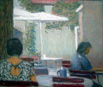 Menschen, Gartencafe, Sommer, Licht