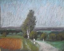 Weillohe, Herbst, Malerei, Herbstlandschaft