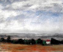 Horzont, Regen, Landschaft, Weite