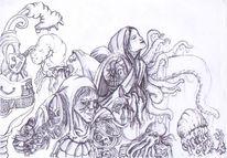 Zeichnung, Surreal, Zeichnungen, Chaos