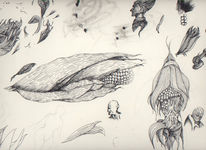 Zeichnung, Skizze, Zeichnungen, Mais