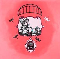 Malerei, Surreal, Pink