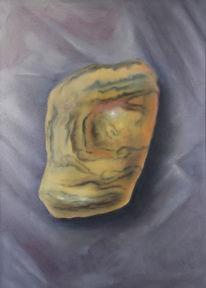Halbedelstein, Grau, Heilstein, Ölmalerei
