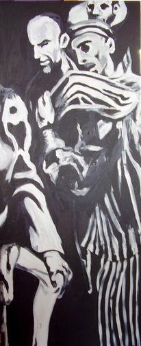 Malerei, Abstrakt, Kontrabass
