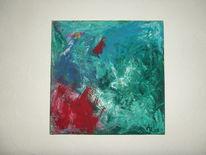 Malerei, Abstrakt, Feuer, Wasser