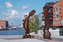 Skulptur, Computergrafik, Osten, Hamburg