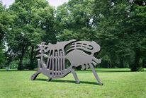 Buchholz, Park, Skulptur, Laserschnitt