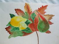 Zeichnung, Skizze, Zeichnungen, Obst