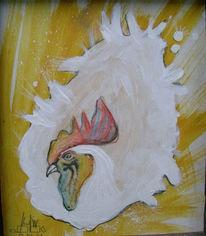 Malerei, Huhn