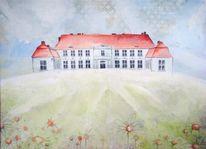 Malerei, Abstrakt, Schloss