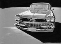 Auto, Cadillac, Oldtimer, Autozeichnung