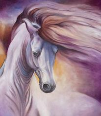 Pferde, Ölmalerei, Malerei, Tiere