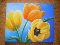 Blüte, Natur, Malerei, Frühling