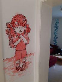 Zeichnungen, Tür, Angel,