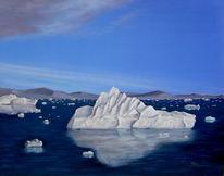 Eis, Landschaft, Südpol, Ölmalerei