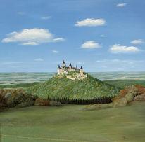 Natur, Realismus, Landschaft, Burg
