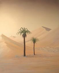 Realismus, Malerei, Wüste, Ölmalerei