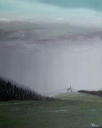 Realismus, Landschaft, Kirche, Wald